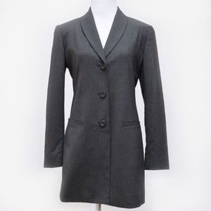Dana Buchman Gray Long Blazer Jacket